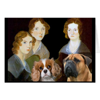 The Bronte sisters and their dogs Card