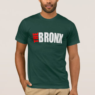 THE BRONX_LOGO_png white&red - Customized T-Shirt