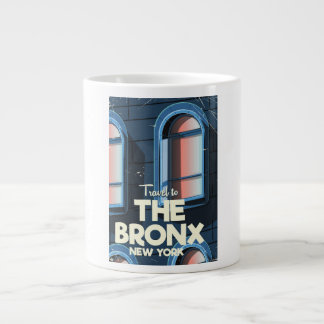 The Bronx New York City travel poster Large Coffee Mug