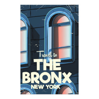 The Bronx New York City travel poster Stationery