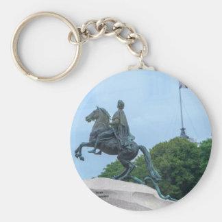The Bronze Horseman Basic Round Button Keychain