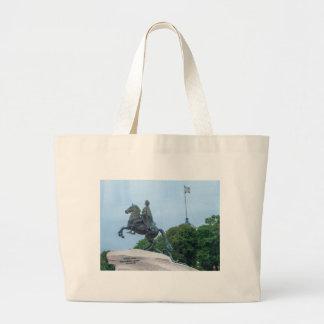 The Bronze Horseman Large Tote Bag