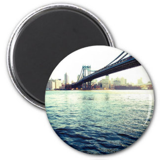 The Brooklyn Bridge 2 Inch Round Magnet