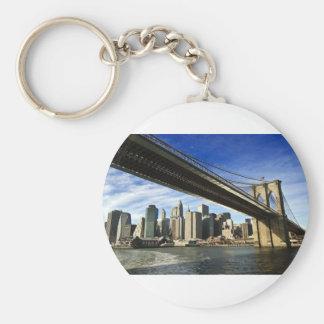 The Brooklyn Bridge Basic Round Button Keychain