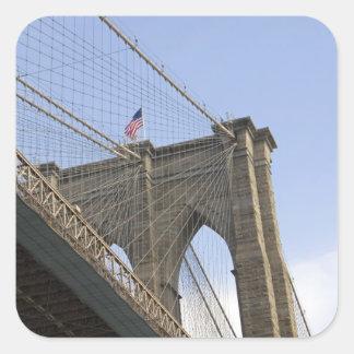 The Brooklyn Bridge in New York City, New Square Sticker
