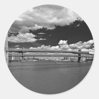 The Brooklyn Bridge Round Sticker