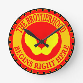 The Brotherhood Begins Right Here Wall Clock