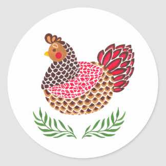 The Brown Hen Classic Round Sticker