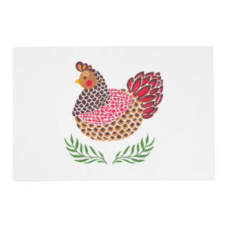 The Brown Hen Laminated Place Mat