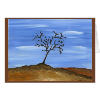 The Brown Tree Traditional Minimalist Painting Card