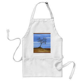 The Brown Tree Traditional Minimalist Painting Standard Apron
