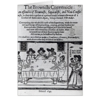 The Brownist Conventicle', published in 1641 Card