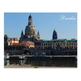 The Brühl's Terrace in Dresden Postcard