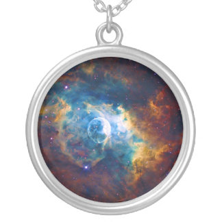 The Bubble Nebula NGC 7635 Sharpless 162 Silver Plated Necklace