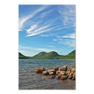 The Bubbles and Jordan Pond, Maine Photographic Print