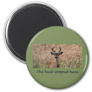 The Buck Stopped Here 2 Inch Round Magnet