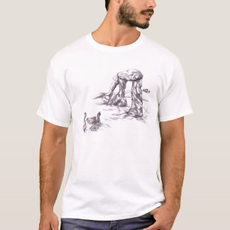 The Buddha and the Emperor Philosophy Art T Shirt