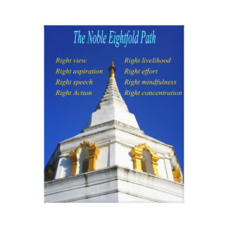 The Buddhist Noble Eightfold Path Stretched Canvas Prints