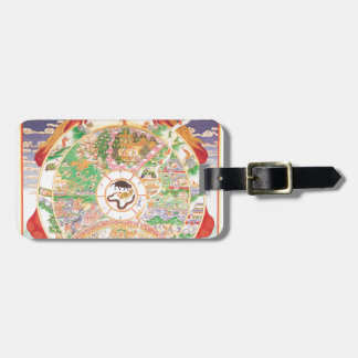The Buddhist Wheel of Life Luggage Tag