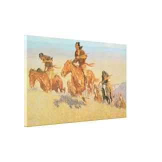 The Buffalo runners, Big Horn Basin 1909 Canvas Print