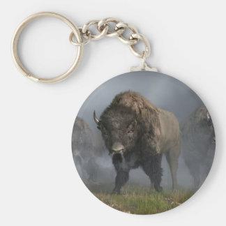 The Buffalo Vanguard Basic Round Button Keychain