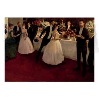 The Buffet, 1884 Card