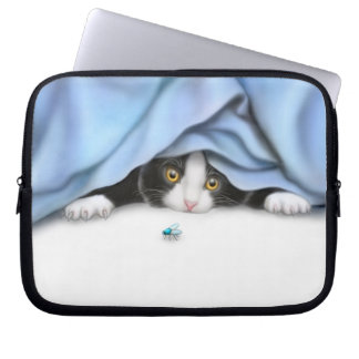 The Bug Hunter Kitty Electronics Bag Computer Sleeve