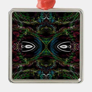 The Bug Silver-Colored Square Ornament