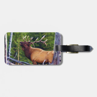 The Bugler Elk Bull Luggage Tag