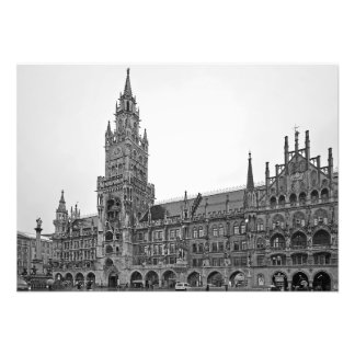 The building of the New Town Hall in Munich Photo Print