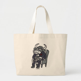 The Bull Father Large Tote Bag