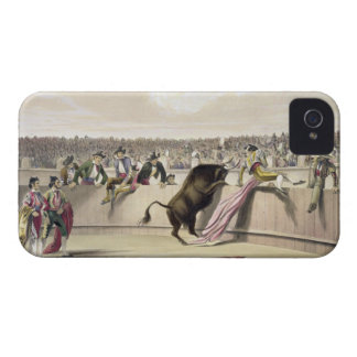 The Bull Leaping the Barriers, 1865 (colour litho) iPhone 4 Covers