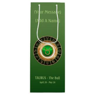 The Bull's Horoscope Symbol Wine Gift Bag