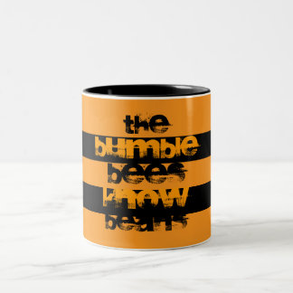 The Bumble Bees Know Beans Two-Tone Coffee Mug