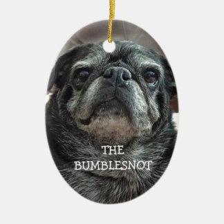 "The Bumblesnot ""Adopt Don't shop!"" oval ornament"