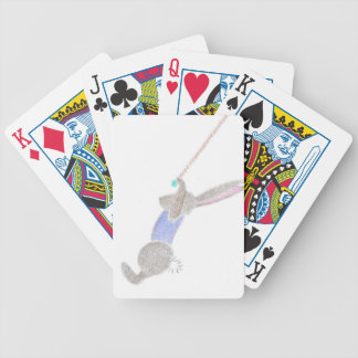 The Bunny On The Flying Trapee Bicycle Playing Cards