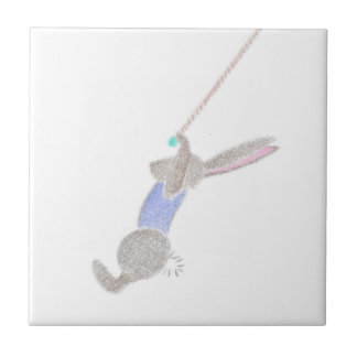 The Bunny On The Flying Trapee Tile