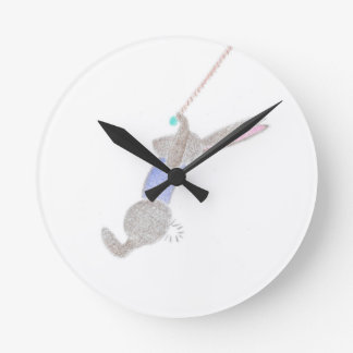 The Bunny On The Flying Trapee Wallclocks