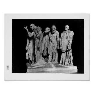 The Burghers of Calais, 1889 Poster