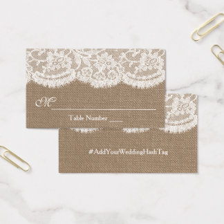 The Burlap & Lace Wedding Collection Escort Cards