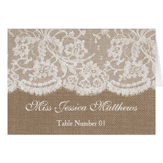 The Burlap & Lace Wedding Collection Place Cards