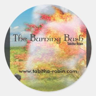 The Burning Bush Round Stickers