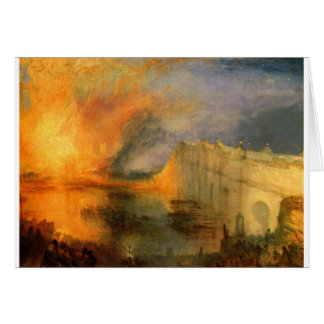 The Burning of the Houses of Parliament by William Card