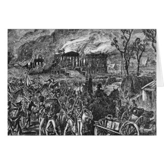 The Burning of Washington, 1814 Card