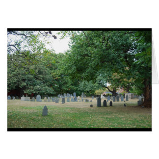 The Burying Point Cemetery Card