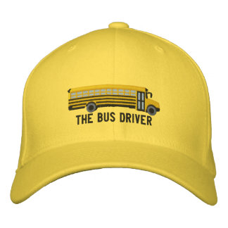 The Bus Driver Custom School Bus Embroidery Embroidered Hat