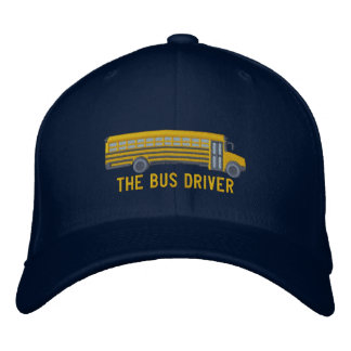 The Bus Driver Custom School Bus Large Embroidery Embroidered Hat