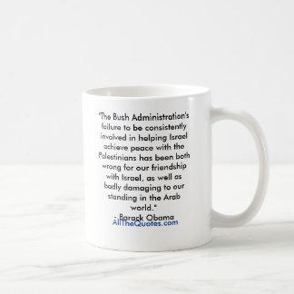 """The Bush Administration's failure to be consis... Classic White Coffee Mug"