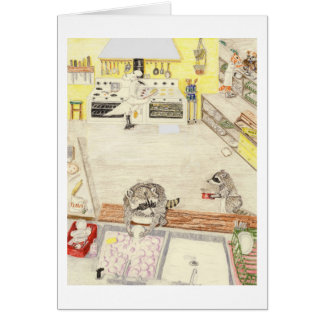The Busy Dishwashers Greeting Card