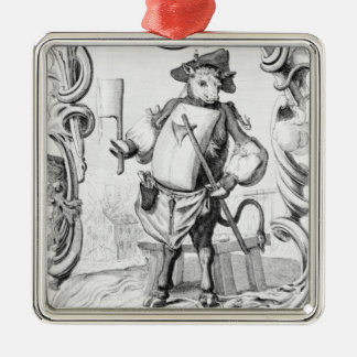 The Butcher, published 1746 Metal Ornament